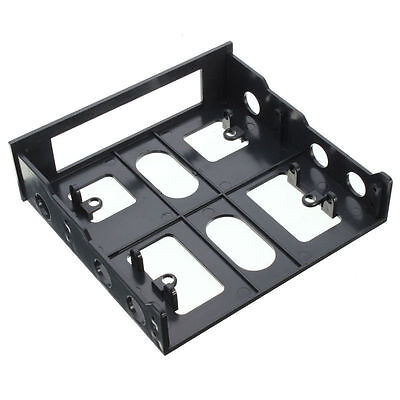 """3.5"""" to 5.25"""" Drive Bay Computer PC Case Adapter Mounting Bracket USB Hub Floppy"""