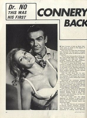 Sean Connery Back To Bond In Diamonds Are Forever Article & Picture(s)