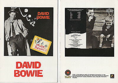 David Bowie Absolute Beginners Anabas 1986  Open Out Postcard