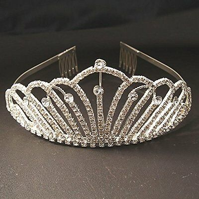 Crazy K&A Adult Ceremony Rhinestone Tiara Crystal Crown Headband n Headband
