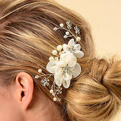 Remedios Bridal Hair Flower Side Comb Barrette Headpiece Wedding Accessory
