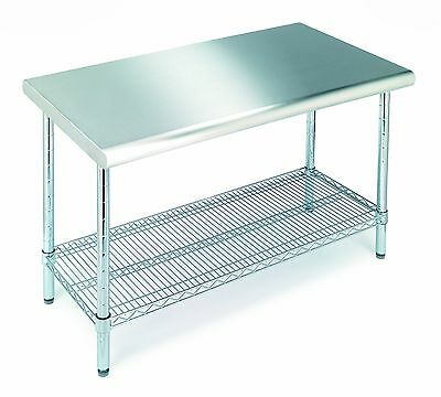 Seville Classics Commercial Stainless Steel Top Worktable NSF Listed Large