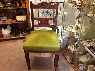 Solid walnut set of SIX dining chairs