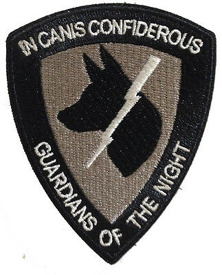 Guardians of the Night Patch - Black/Grey with Velcro Custom - K9 Dog Handler