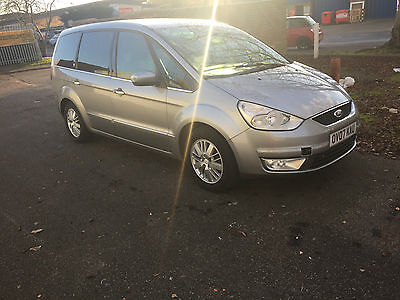 2007 FORD GALAXY GHIA TDCI 6G SILVER spares or repair, starts and drive