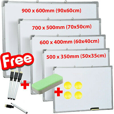 Office School Small Medium Large Magnetic Whiteboard Dry Wipe Drawing Board