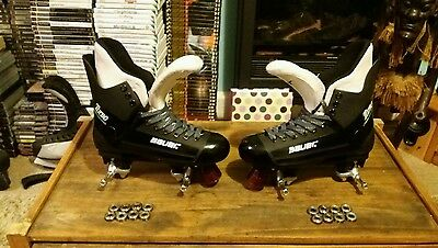 "Bauer ""Turbo"" quad rollerskate conversions in a uk size 8."