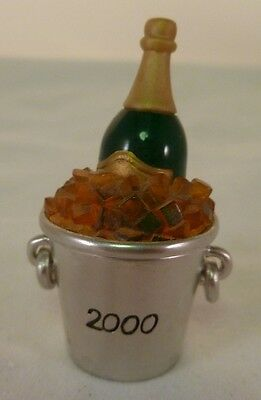 Estee Lauder New Year's Eve 2000 Solid Perfume Holder Champagne in Ice Bucket