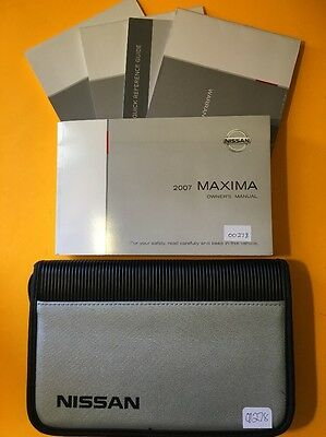 2007 Nissan Maxima Owners manual, 5 Book Set with case
