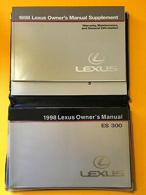 1998 Lexus ES300 Owners manual, 2 Book Set with original case