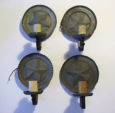 (4) Four Star Antique Sconces Republic of Texas.