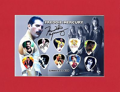 Freddy MercuryMatted Picture Guitar Pick Set Queen We Will Rock You