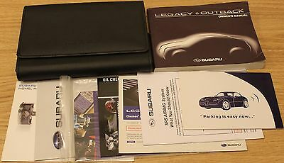 Subaru Legacy And Outback Handbook Owners Manual Wallet 2009–2013 T1612