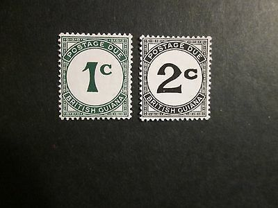 British Guiana 1940 1c and 2c Postage Dues Mounted Mint