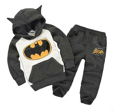 Batman Thick Tracksuit Set Outfit 18-24 Months,2-3,3-4,4-5 Years Uk Winter Boys