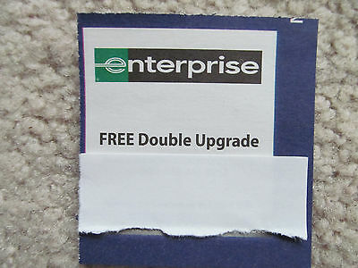 Enterprise Car Rental Double Upgrade Coupon