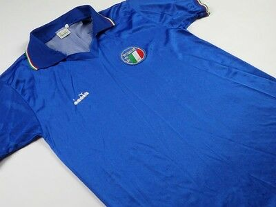1986-1990 Italy Home Football Shirt (Adults: Large)