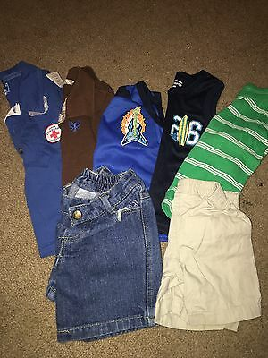 Lot Of 5 Shirts & 2 Shorts- Boys Size 18-24 Months