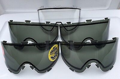 5 JT Spectra ProFlex Thermal Smoke & Clear Lenses Paintball Mask Goggle
