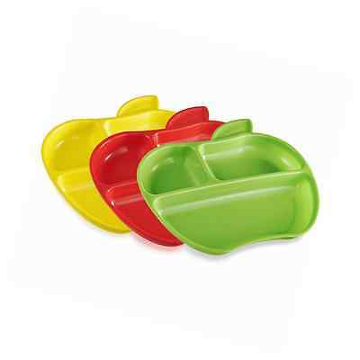 Munchkin Lil' Apple Plates, 3 Count