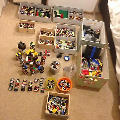 9.5KG SORTED BY TYPE OF BRICK Lego JOB LOT BRICKS PLATES TILES & MORE