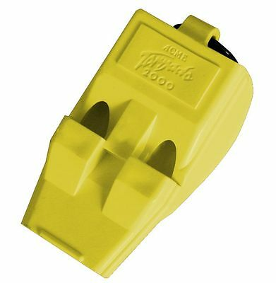 3 Acme T2000 Tornado 2000 Pealess Whistle Yellow Airfast High Tapered Mouth