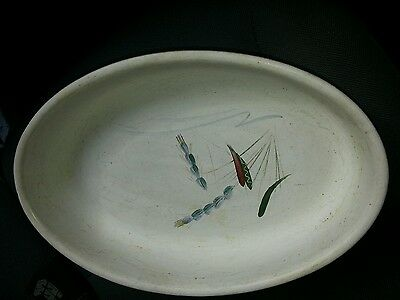 Denby oval  oven dish (10.25)   Green  wheat  design