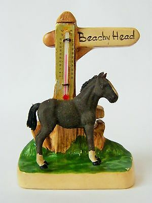 Vintage Manor Ware Beachy Head EAST SUSSEX Souvenir - Horse with Thermometer
