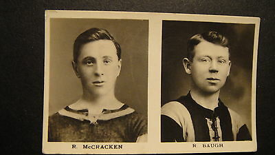 D C THOMSON FOOTBALLERS K SIZE DOUBLE  BAUGH WOLVES McCRACKEN CRYSTAL PALACE