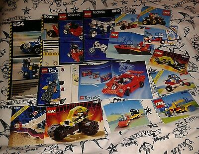 Big bundle of retro LEGO instruction manuals only. 16 booklets in total!