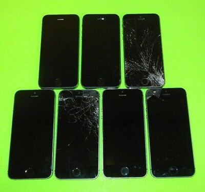 LOT of 7 Apple iPhone 5S 16GB's CANNOT ACTIVATE ~PARTS ONLY~ SEE Below