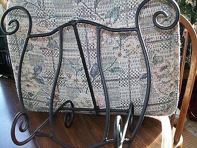 Wrought Iron Recipe/book Holder 10'' Tall Excellent