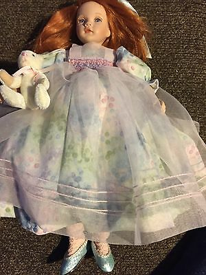 """Collectible doll Pauline """"""""Kelsey"""" LE 576/950 12-1/2in tall porcelain w/box,COA"""