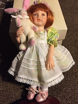 """Collectible doll Paulinette """"Sarah"""" LE 1237 of 3,000 porcelain COA stand box"""