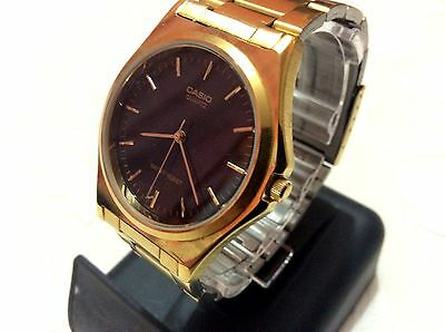 Casio  MTP-1130  Mens Gold Plated Watch New