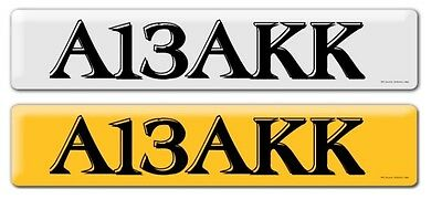 Personalised Cherished Private Registration Number Plate - A13Akk