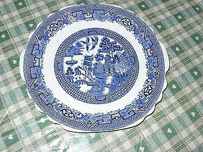 """Blue and White Plate.  Swinnerton's """"Old Willow"""" Staffordshire"""