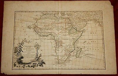Gorgeous Very Early Hand Colored Map of Africa