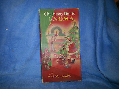 Antique XMAS lights NOMA/TOTAL MAZDA  LAMPS  C-6