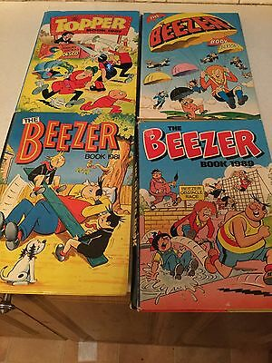 Beezer & Topper Annuals. 4 From 1981, 1983, 1987 & 1989. Look!