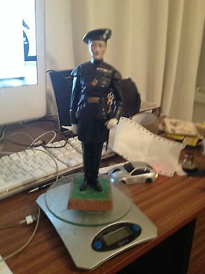 porcelain military figure knight of the garter 10 inches high