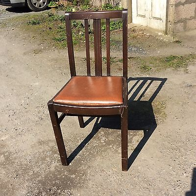 Vintage Retro Oak Dining Chair ( with lift out seat, easy to refurbish )