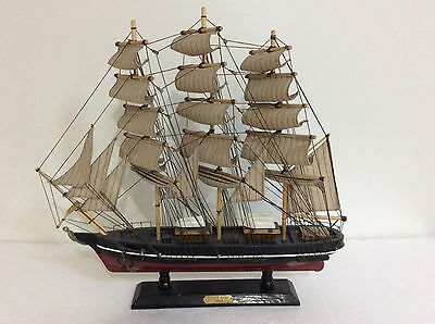 """Vintage 19"""" Long Hand Crafted Wooden Model Ship """"the 1869  Cutty Shark"""""""
