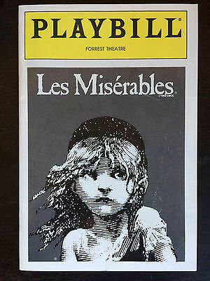 Les Miserables December 1990 Playbill Excellent Condition Forrest Theatre OG own