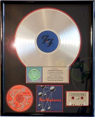 """Foo Fighters Signed """"the Colour And The Shape"""" Riaa Record Award Platinum Grohl"""