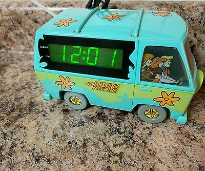Scooby Doo The Mystery Machine Alarm Clock - 1999