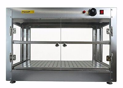 Commercial 30 x 15 x 20 Countertop Food Pizza Pastry Warmer Wide Display Case 99