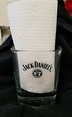 Jack Daniels Old No. 7 Whiskey Square Lowball Glass