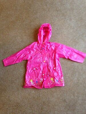 Girls pink rain Mac / rain coat age approx 3 years
