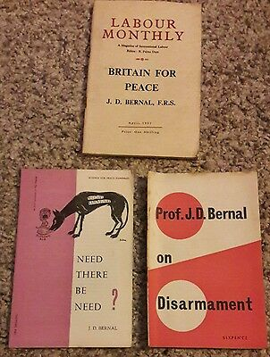 3 Publications JD Bernal. Science for Peace.